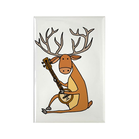 Funny Deer Playing Banjo