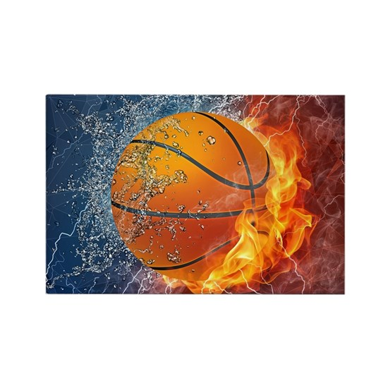 Flaming Basketball Ball Splash