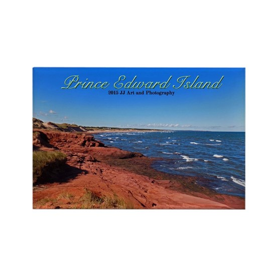 Prince Edward Island Beaches: Prince Edward Island Red Sand Beach Rectangle Magnet