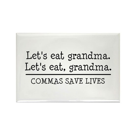 Lets eat grandma. Commas save lives