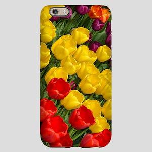Colorful spring tulips in ro iPhone 6/6s Slim Case