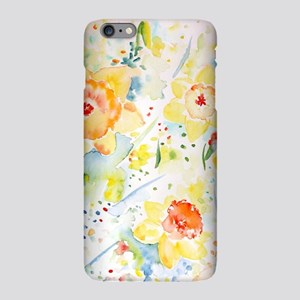 Watercolor yellow flowers iPhone Plus 6 Slim Case