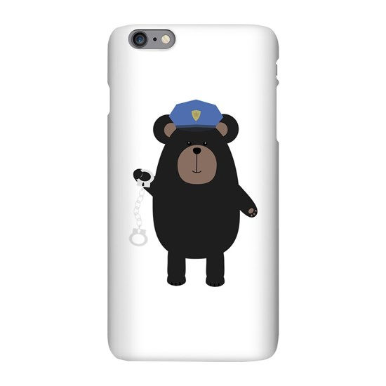 Police Black Bear and handcuffs