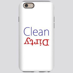 Clean Dirty Dishwasher Red Blu iPhone 6 Tough Case