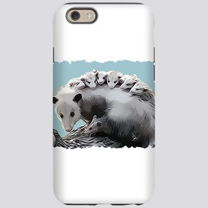 Possum Family on a Log iPhone 6 Tough Case