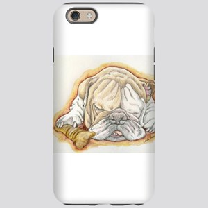 Sleepy English Bulldog with Bone iPhone 6/6s Tough