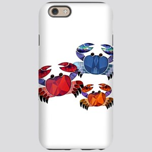 Blue & Red Mosaic Crab Trio iPhone 6 Tough Case