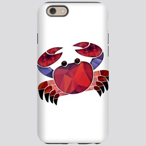 Red Mosaic Dungeness Crab iPhone 6 Tough Case