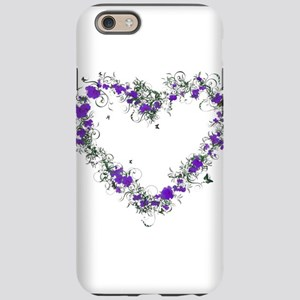 Purple Flower Heart iPhone 6 Tough Case