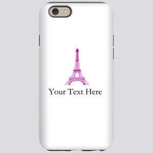 Personalizable Pink Black Eiffel Tower iPhone 6/6s