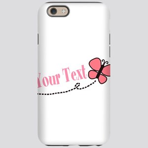 Personalizable Pink Butterfly iPhone 6 Tough Case