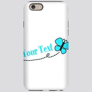 Personalizable Teal and Black Butterfly iPhone 6 T