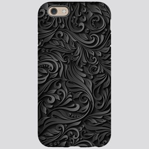 Black Flourish iPhone 6/6s Tough Case