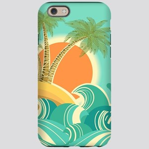 Vintage Tropical Island iPhone 6/6s Tough Case
