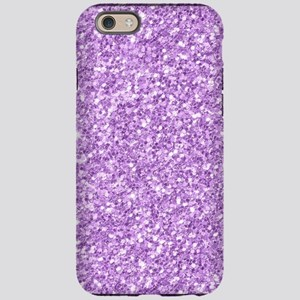 Purple glitter texture prin iPhone 6/6s Tough Case
