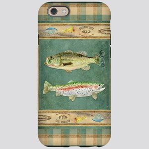 Fishing Cabin Lake Lodge Plaid iPhone 6 Tough Case