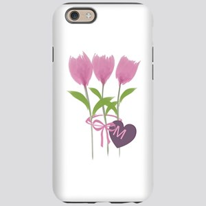 Pink Tulip Monogram iPhone 6 Tough Case
