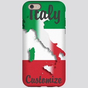 Customized Italy Italian Flag iPhone 6 Tough Case