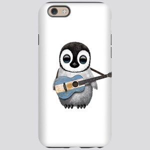 Baby Penguin Playing Argentine Flag Guitar iPhone