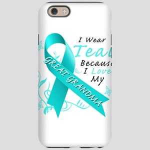 I Wear Teal Because I Love My Great Grandma iPhone