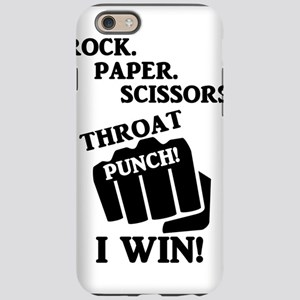 Rock, Paper, Scissors, Throat iPhone 6 Tough Case