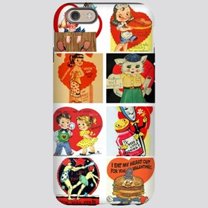 vintage valentines day cards f iPhone 6 Tough Case