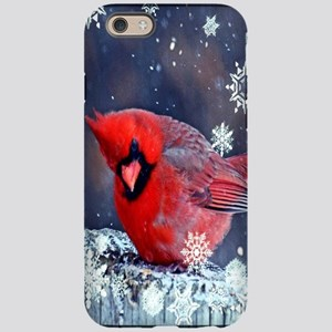 winter snow red cardinal iPhone 6 Tough Case