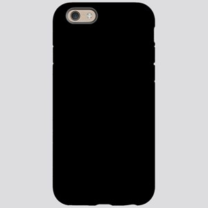 Simply Black Solid Color iPhone 6 Tough Case