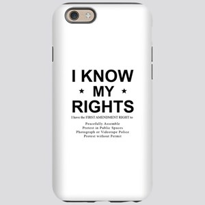 I KNOW MY RIGHTS BL iPhone 6/6s Tough Case