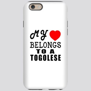 I Love Togolese iPhone 6 Tough Case