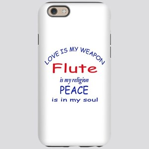 Flute is my religion iPhone 6/6s Tough Case