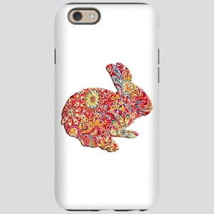 Colorful Floral Easter Bunny iPhone 6 Tough Case