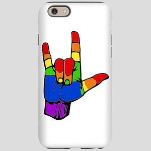 ily rainbow iPhone 6 Tough Case