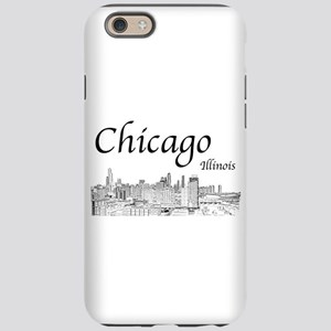 Chicago on White iPhone 6 Tough Case