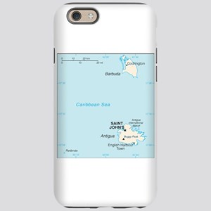 Antigua and Barbuda Map iPhone 6 Tough Case