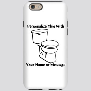 PERSONALIZED Toilet Graphic iPhone 6 Tough Case