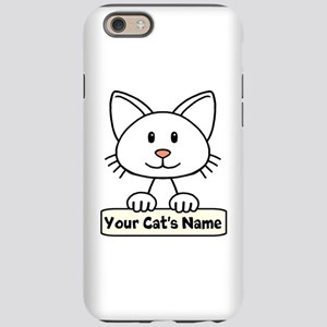 Personalized White Cat iPhone 6/6s Tough Case