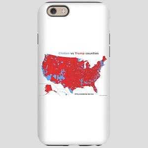 Trump vs Clinton Map iPhone 6/6s Tough Case