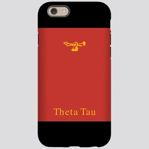 Theta Tau Fraternity Name and Symbol in Yellow wit
