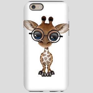 Cute Curious Baby Giraffe Wearing Glasses iPhone 6