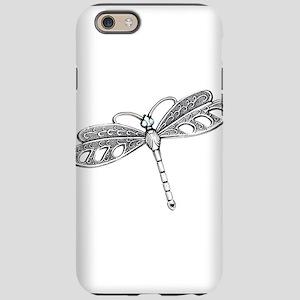 Metallic Silver Dragonfly iPhone 6 Tough Case