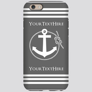 Gray and White Anchor and Rope iPhone 6 Tough Case