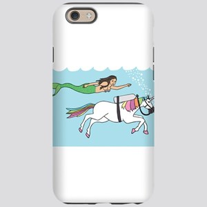 Mermaid Swimming With Unico iPhone 6/6s Tough Case