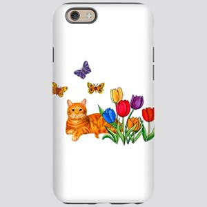 Orange Cat In Tulips iPhone 6 Tough Case