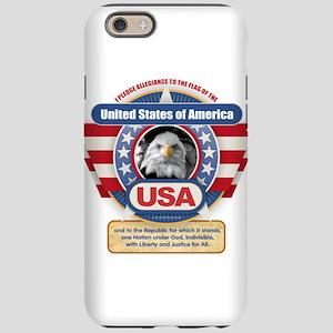 USA Pledge of Allegiance iPhone 6 Tough Case