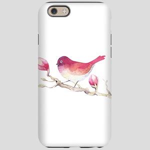 Pink Sparrow Bird on Magnol iPhone 6/6s Tough Case