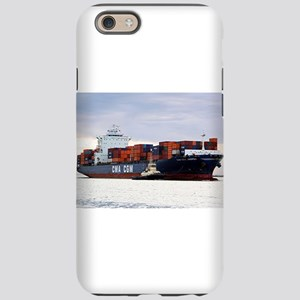 Container cargo ship and tu iPhone 6/6s Tough Case