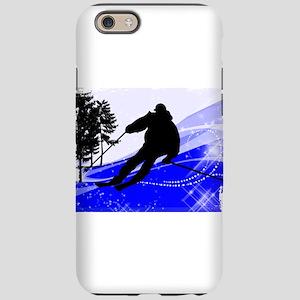 Downhill on the Ski Slope Edge iPhone 6 Tough Case