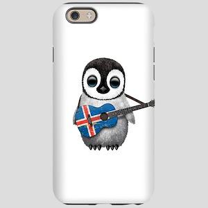 Baby Penguin Playing Icelandic Flag Guitar iPhone