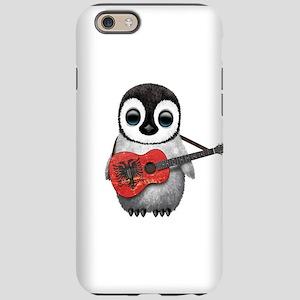 Baby Penguin Playing Albanian Flag Guitar iPhone 6